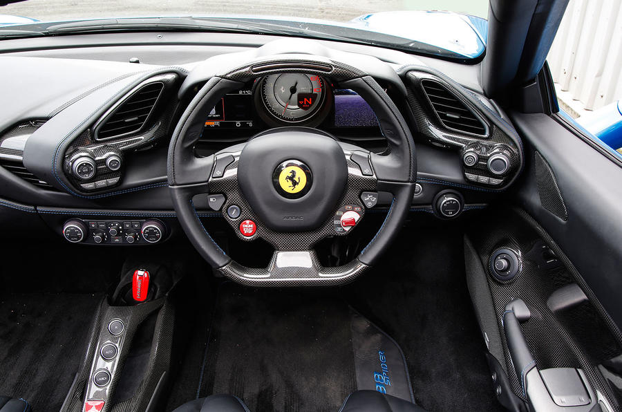 Ferrari 488 Spider dashboard