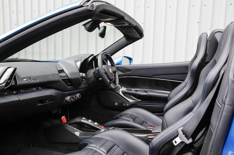Ferrari 488 Spider front seats
