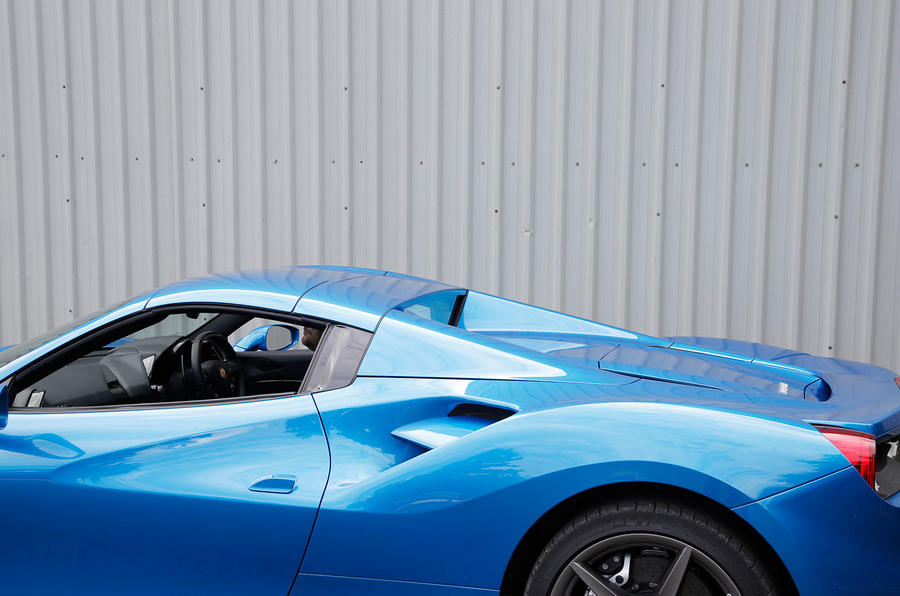 Ferrari 488 Spider roof up