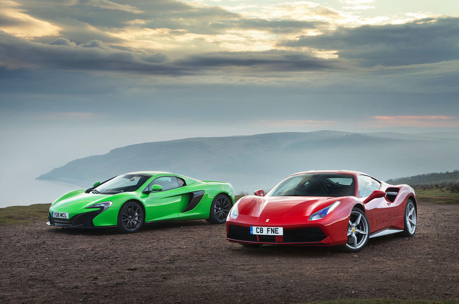 Ferrari 488 Gtb Vs Mclaren 650s Supercars Compared Autocar