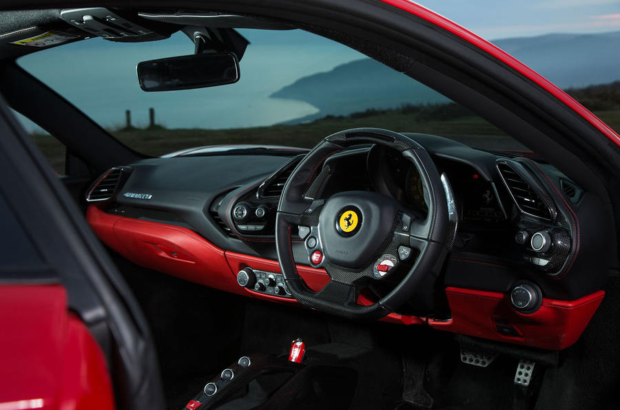 Ferrari 488 GTB interior