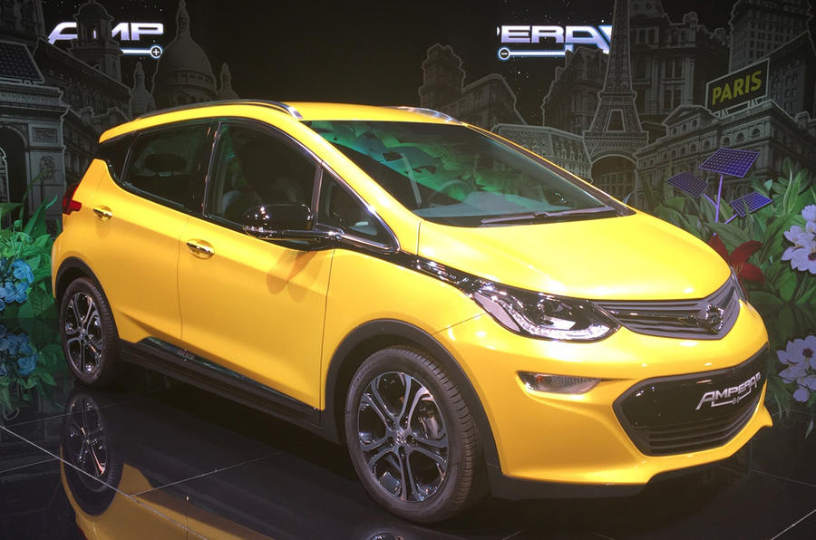 Opel Ampera-e at the Paris motor show 2016 - show report and gallery