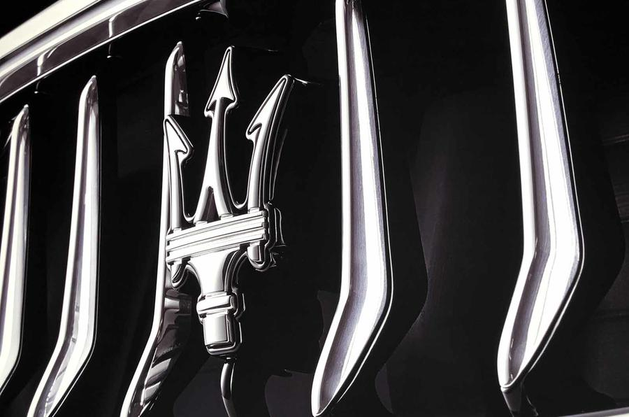 Maserati bonnet badge