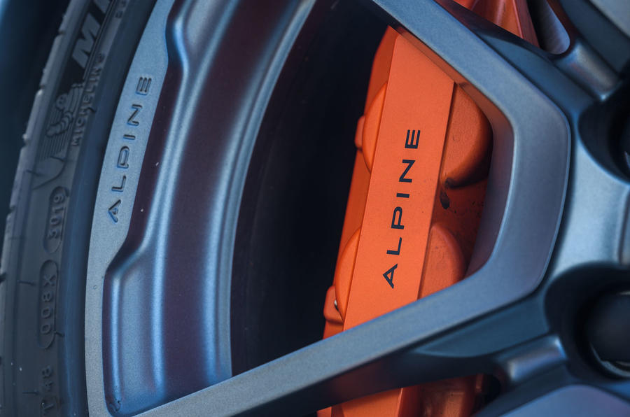 Alpine A110 S 2020 UK first drive review - brake calipers