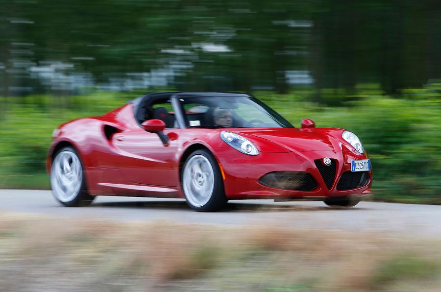 Alfa Romeo 4C moving at speed