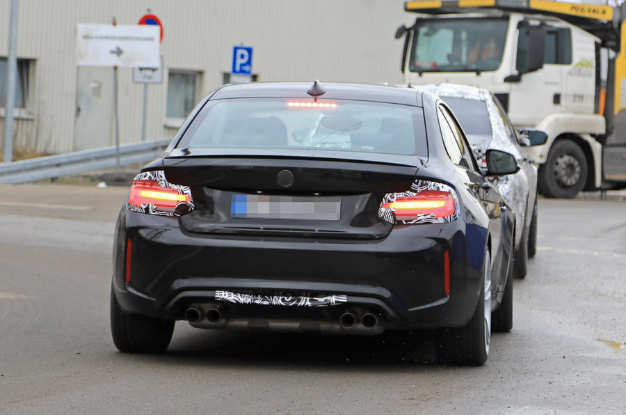 Facelifted BMW M2 tail lights