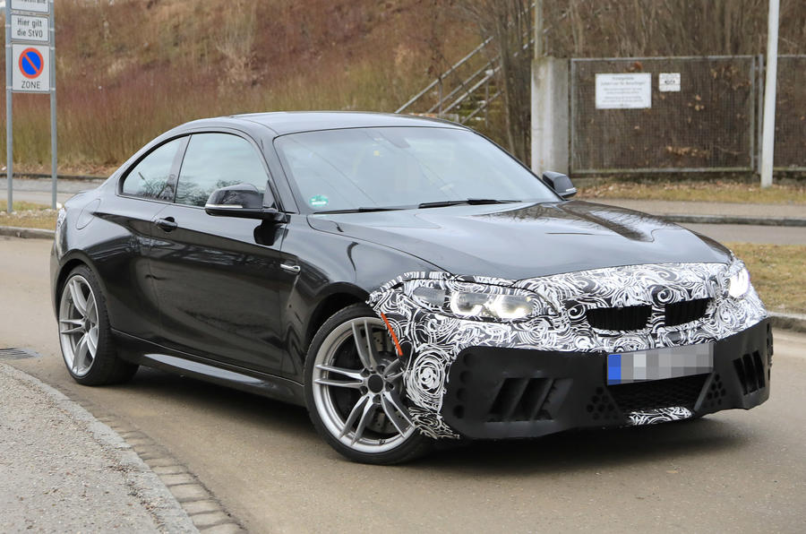Facelifted BMW M2 begins testing