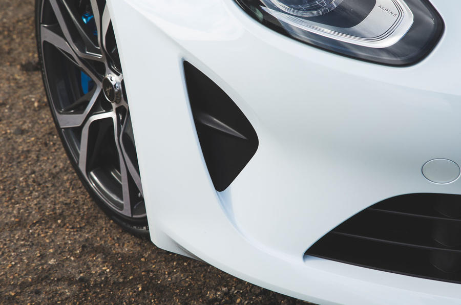 Alpine A110 Pure 2019 UK first drive review - front aero