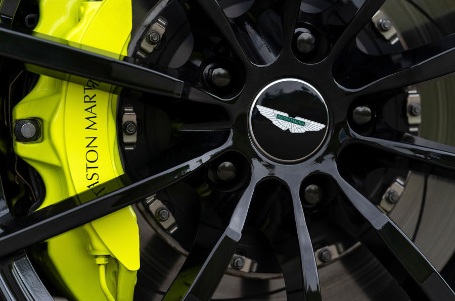 Aston Martin DB11 AMR 2018 review brake calipers