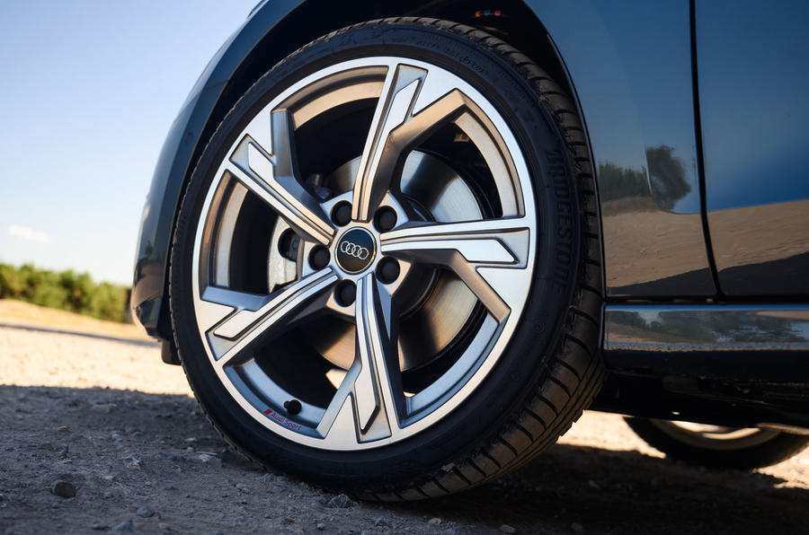 Audi A3 saloon 2020 UK first drive review - alloy wheels