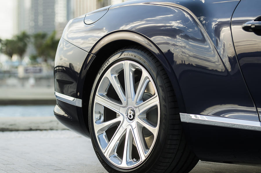 Bentley Continental GT Convertible 2019 UK first drive review - alloy wheels