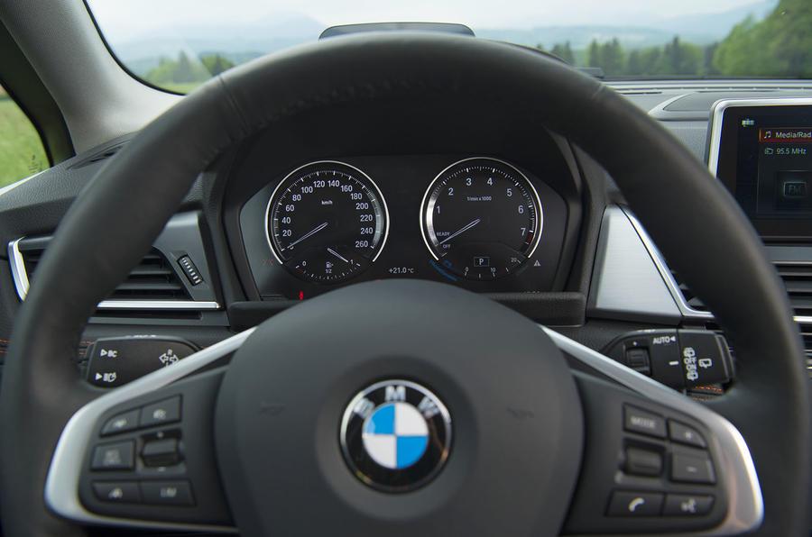 BMW 2 Series Active Tourer 2018 review instrument cluster