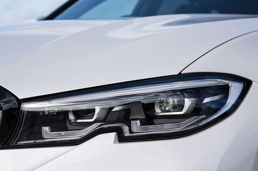 BMW 3 Series Touring 330d 2019 UK first drive review - headlights