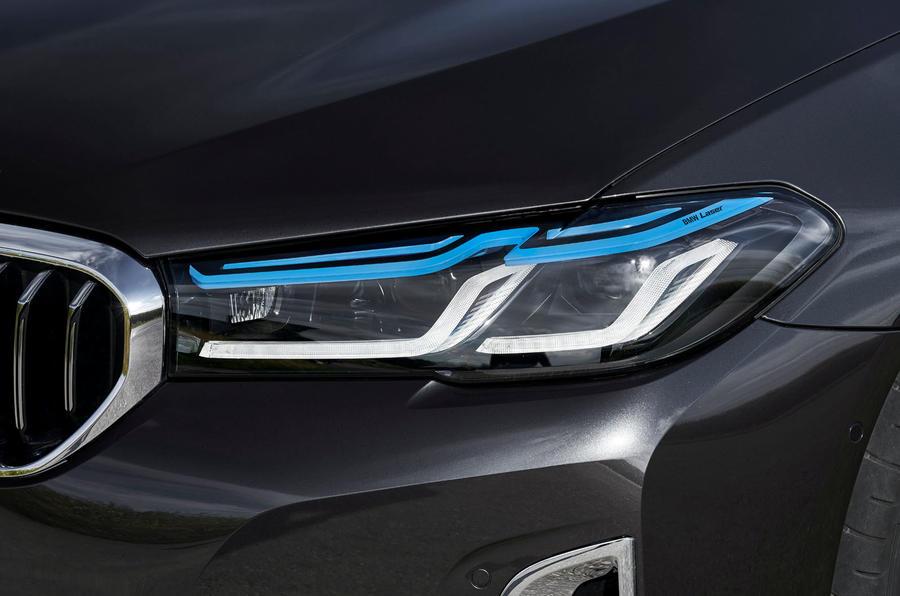 BMW 5 Series 2020 UK (LHD) first drive review - headlights