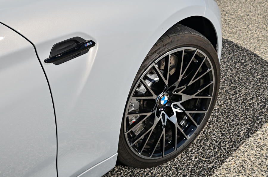 BMW M2 Competition 2018 first drive review front arches