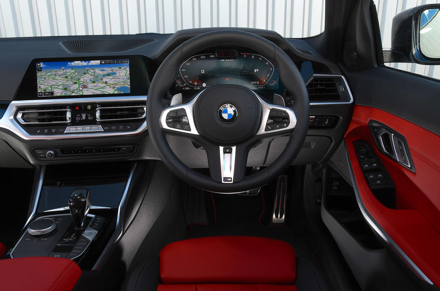 BMW 3 Series Touring M340i 2020 UK first drive review - dashboard