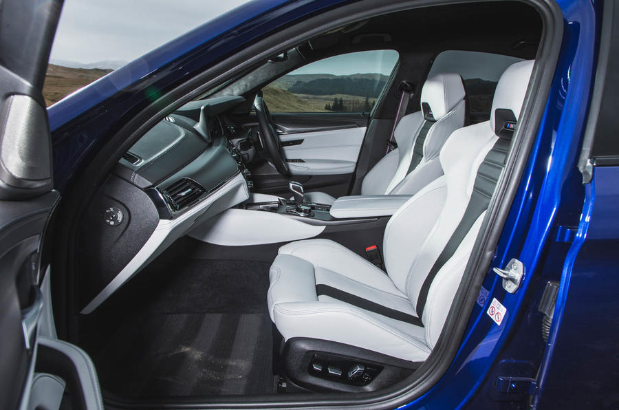 BMW M5 2018 long-term review cabin