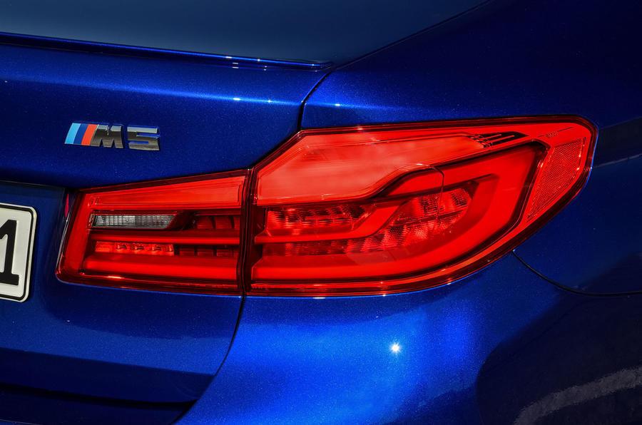 BMW M5 2018 long-term review rear lights
