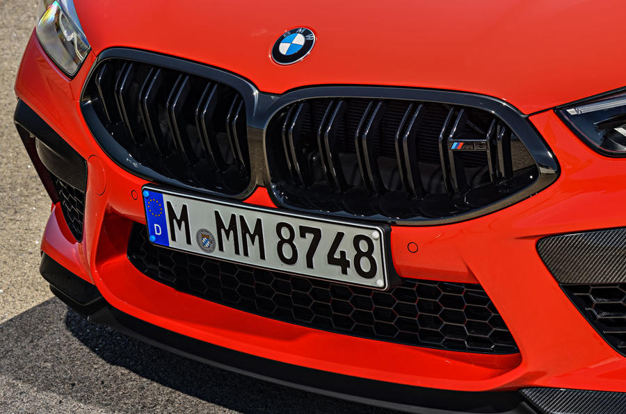 BMW M8 Competition Coupé 2019 first drive review - kidney grille