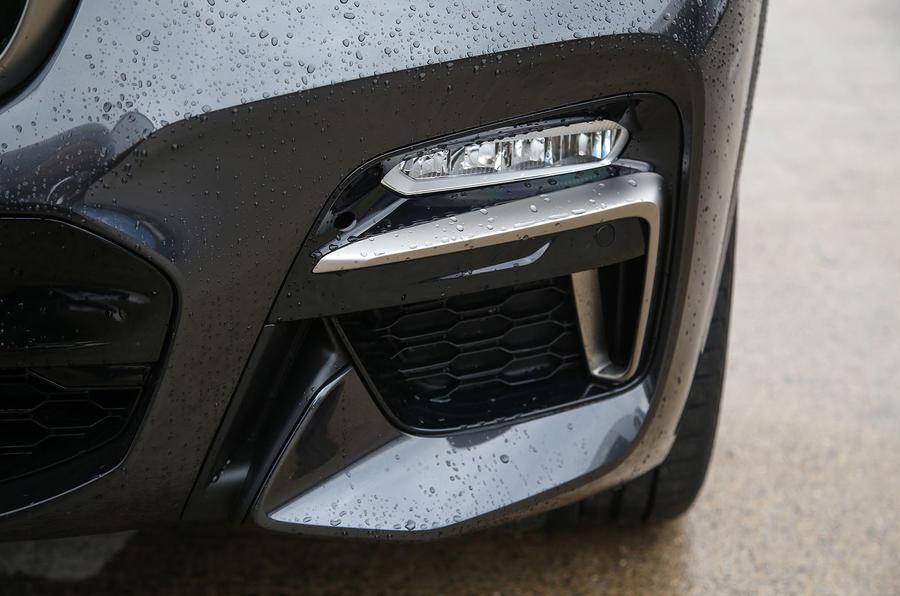 BMW X3 M40i 2018 UK review front bumper