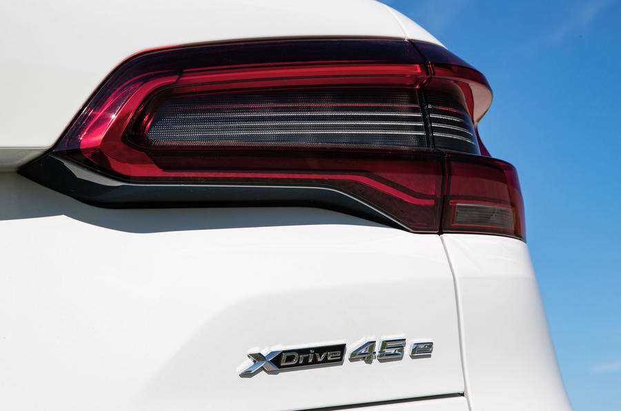 BMW X5 xDrive 45e 2019 UK first drive review - rear lights