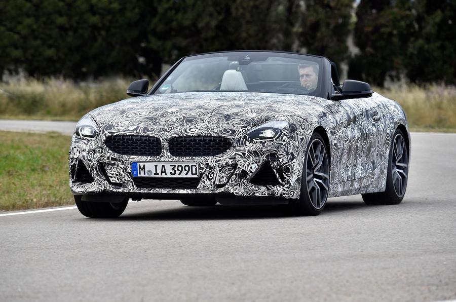BMW Z4 prototype drive 2018 cornering front