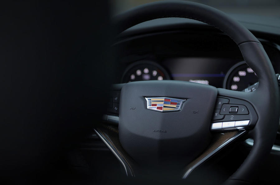 Cadillac XT6 Sport 2020 first drive review - steering wheel