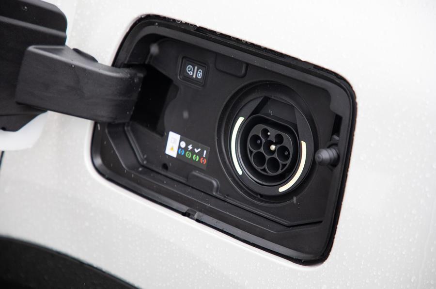 Citroen C5 Aircross Hybrid 2020 UK first drive review - charging port