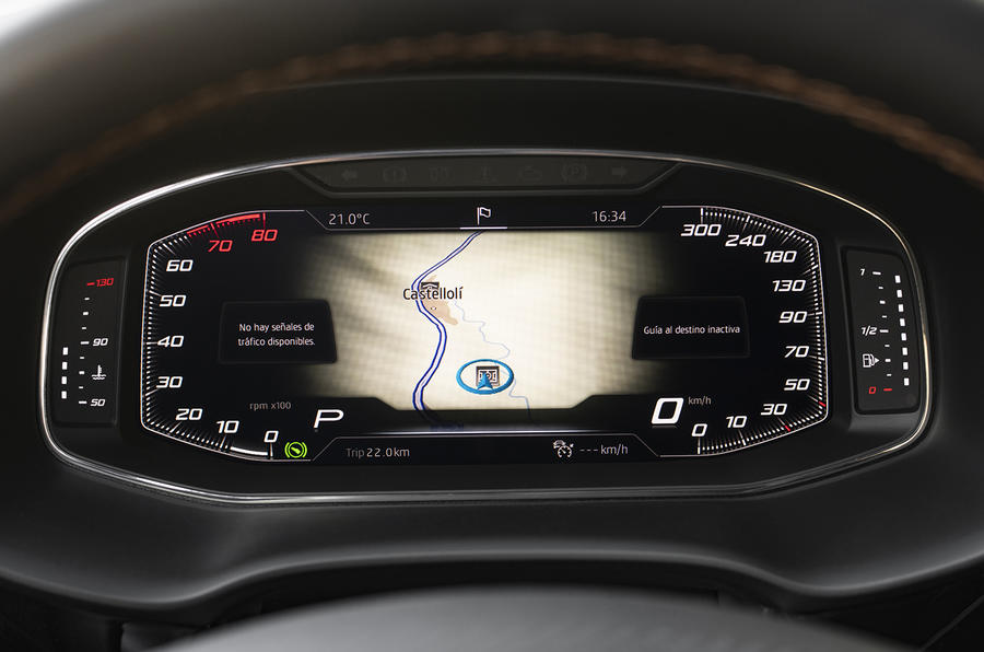 Cupra Ateca 2018 prototype first drive review instrument cluster