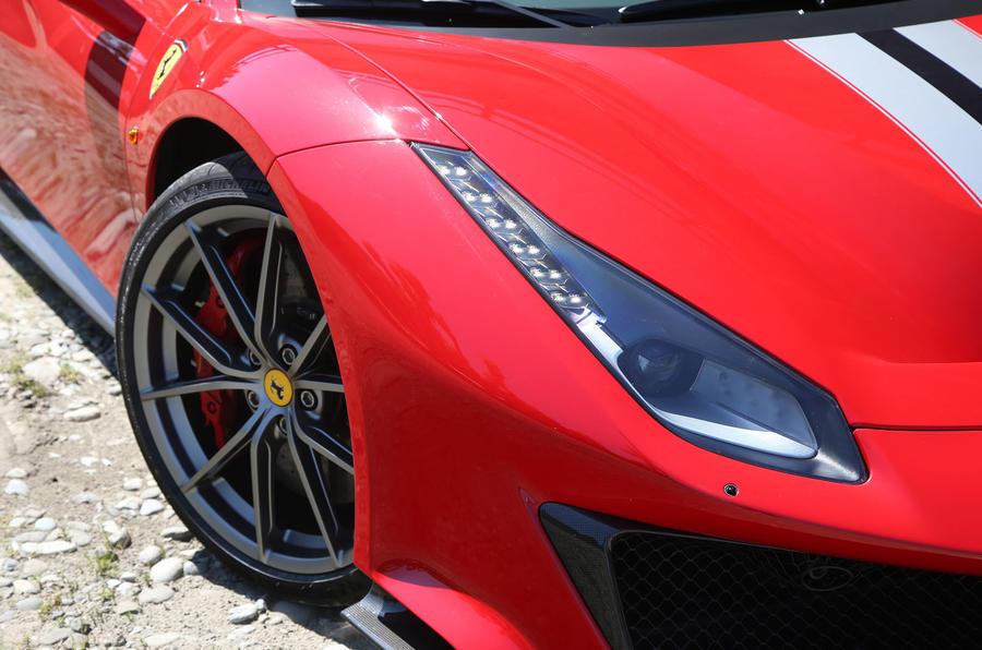 Ferrari 488 Pista 2018 review headlights