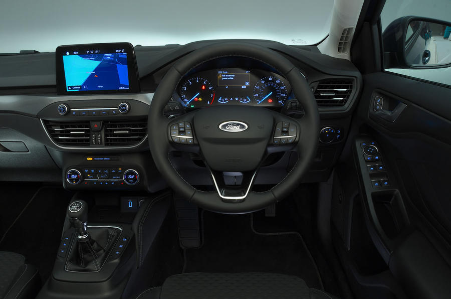 Ford Focus 1.0 Titanium X 2018 UK first drive review dashboard