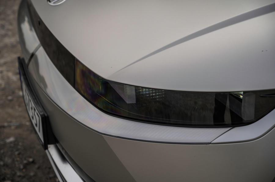 5 Hyundai Ioniq 5 2021 FD plaques de Norvège phares