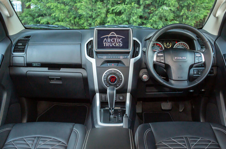 Isuzu D-Max Arctic Trucks 2020 UK first drive review - dashboard