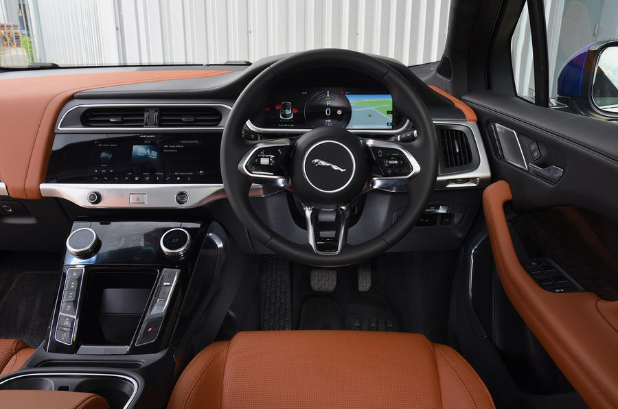 Jaguar I-Pace EV400 UK first drive review dashboard