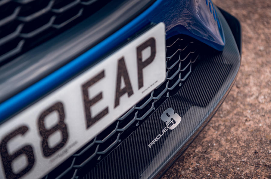Jaguar XE SV Project 8 Touring 2019 UK first drive review - front splitter