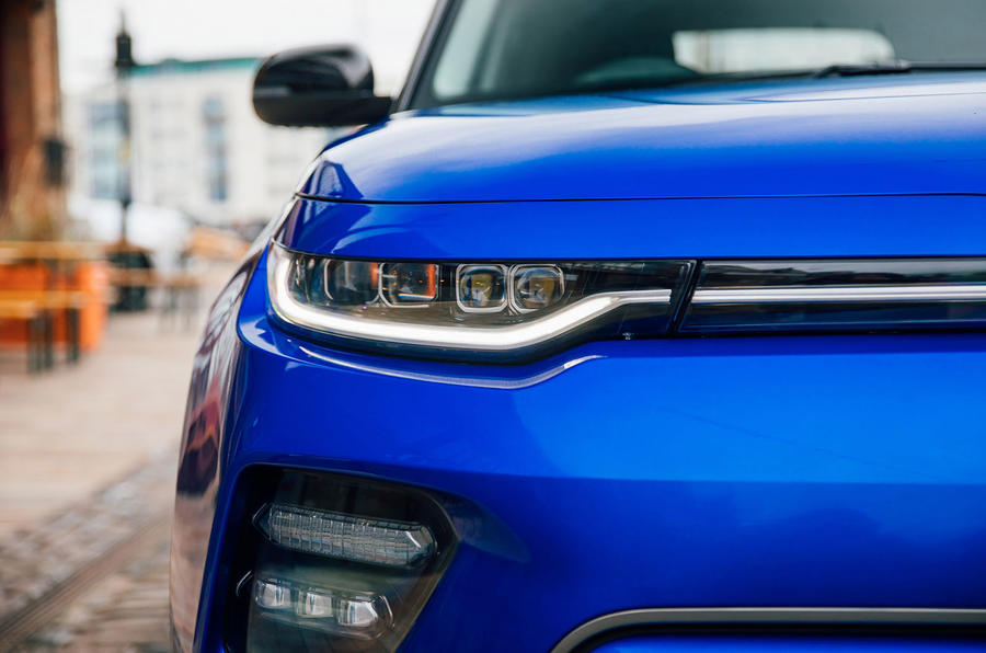 Kia Soul EV 2020 UK first drive review - headlights