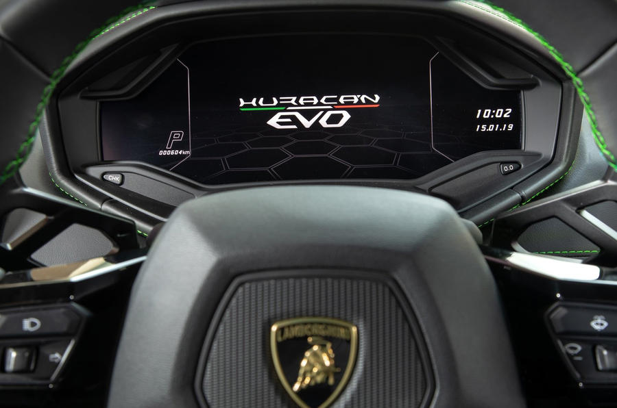 Lamborghini Huracan EVO RWD 2020 UK first drive review - instruments