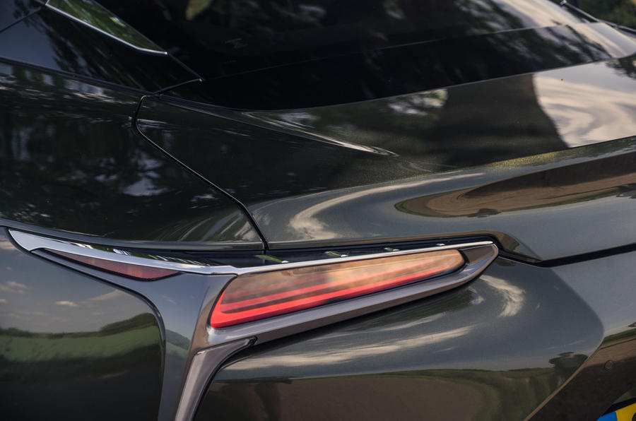 Lexus LC 500 Limited Edition 2020 UK first drive review - rear lights