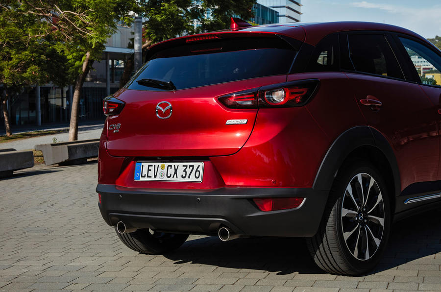 Mazda CX-3 2018 first drive review rear bumper