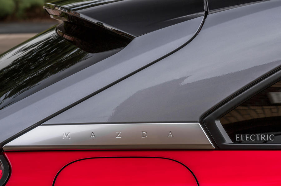 Mazda MX-30 2020 UK first drive review - rear three quarters