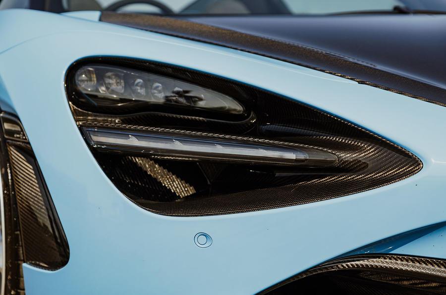 McLaren 720S Spider 2019 UK first drive - headlights