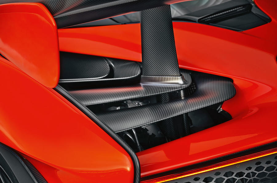 McLaren Senna 2018 UK first drive review rear aero