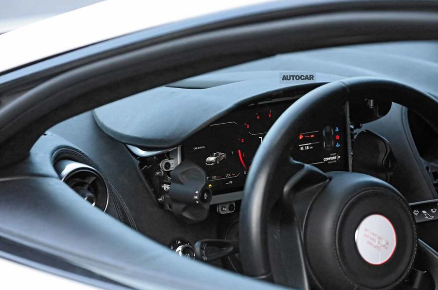McLaren Sports Series Hybrid prototype dash