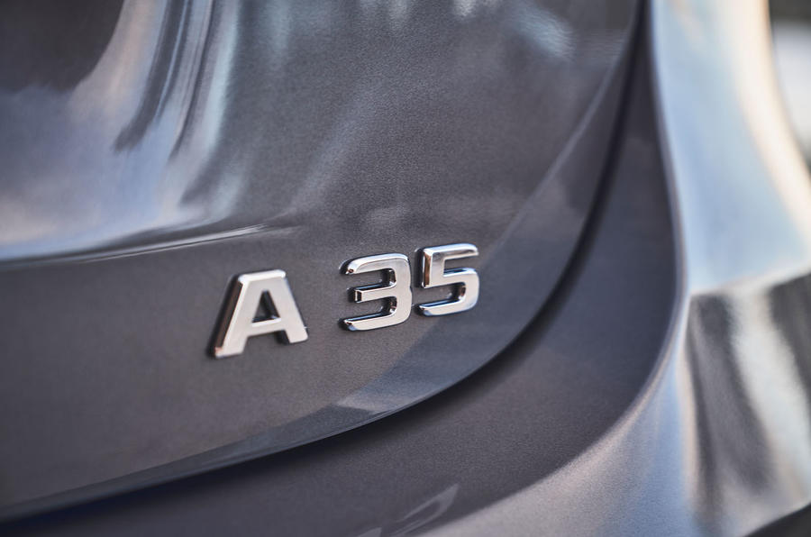 Mercedes-AMG A35 2019 UK first drive review - boot badge