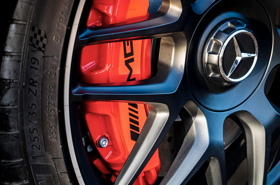 Mercedes-AMG CLA 45 S Shooting Brake 2020 UK first drive review - brake calipers