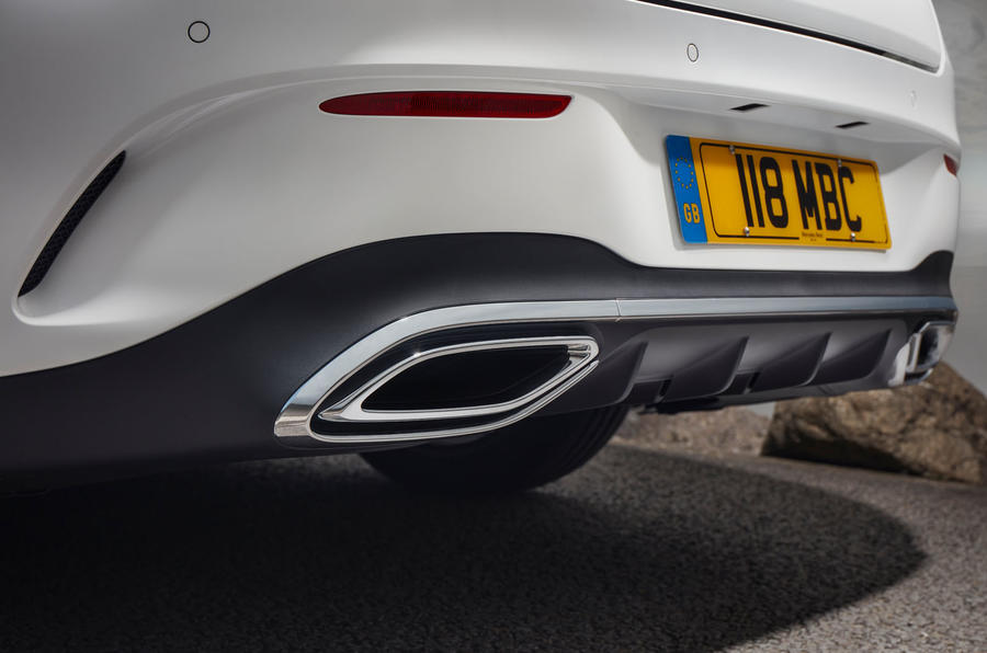 Mercedes-Benz CLA 250 2019 UK first drive review - exhausts