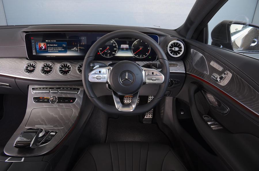 Mercedes-Benz CLS 350 d 2018 UK first drive dashboard