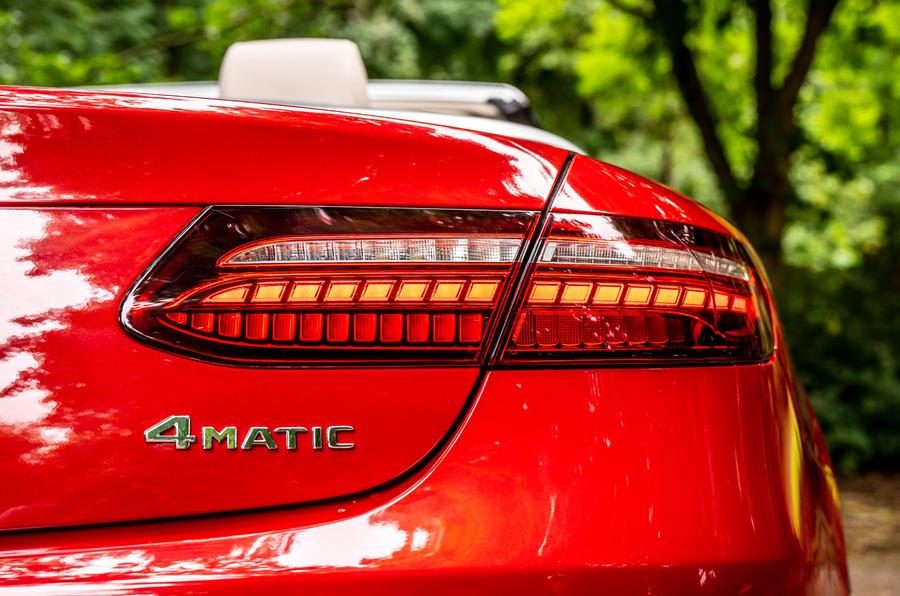Mercedes-Benz E-Class e450 Cabriolet 2020 UK first drive review - rear lights