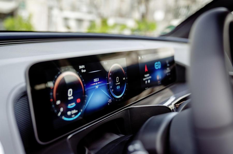 Mercedes-Benz EQC 2019 first drive - instruments