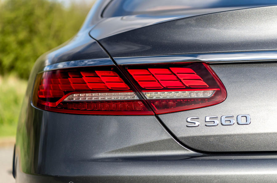 Mercedes-Benz S560 Coupe 2018 UK review rear lights